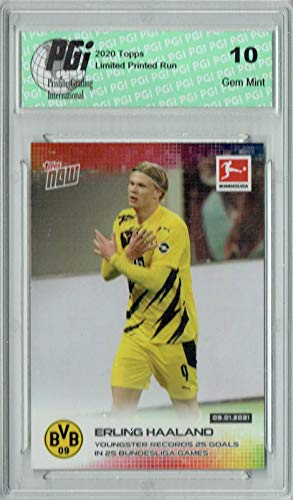 Erling Haaland 2020 Topps Now #83 Just 2,131 Made SP Card PGI 10
