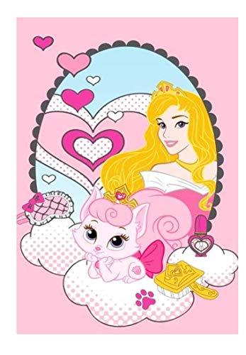 Toalla infantil para invitados, toalla facial Princess – de algodón – regalo para niña (princesa 60 x 40 cm)