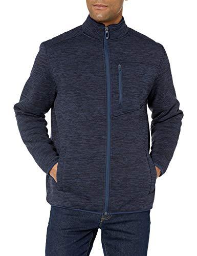 IZOD Men's Premium Essentials Sherpa Jersey Jacket, Peacoat, Large