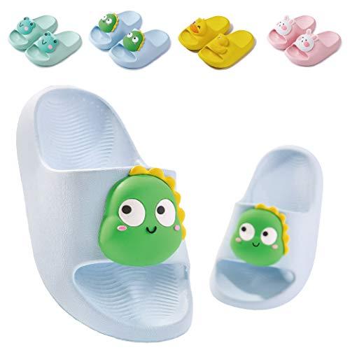 Badelatschen Kinder Dusch Badeschuhe Jungen Mädchen Leicht Anti-rutsch Flache Sommer Hausschuhe Sandalen für Kleinkinder Blau 25 (Etikettengröße 170mm)