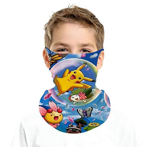 Schutz Sturmhaube Snor-lax und Totoro Poke-mon hängende Ohrschlaufen Schal Halstuch Halstuch Bandana für Mädchen Jungen Gr. Einheitsgröße, Weiß-4