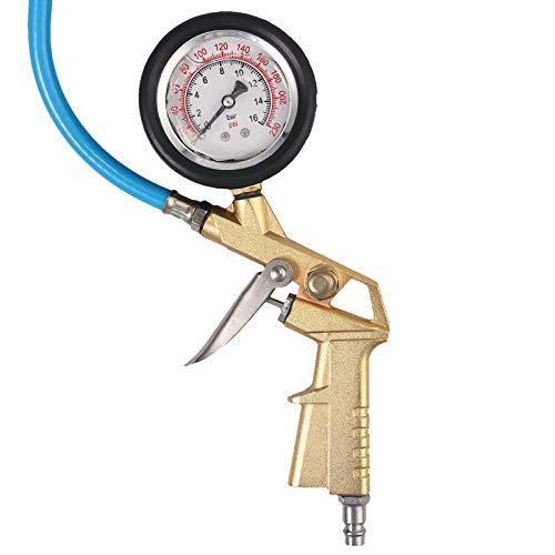 a50 Manometro Presion Neumaticos Digital Manómetro De Acero Inoxidable De 0-230 PSI Manómetro Lleno De Líquido Manómetro De Aire, Aceite Y Agua Manómetro De Presión Hidráulica