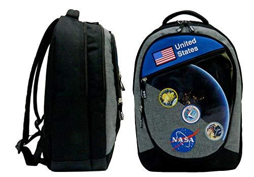 Mochila NASA - Dos compartimentos - 45 cm - Negro
