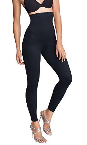 Leggings da Donna Dimagrante della Pancia Anti-Cellulite Rassodante Levigante Senza Cuciture, Vita Alta Forma, Supporto Pancia (Set di 1 Nero (XL (20-22))