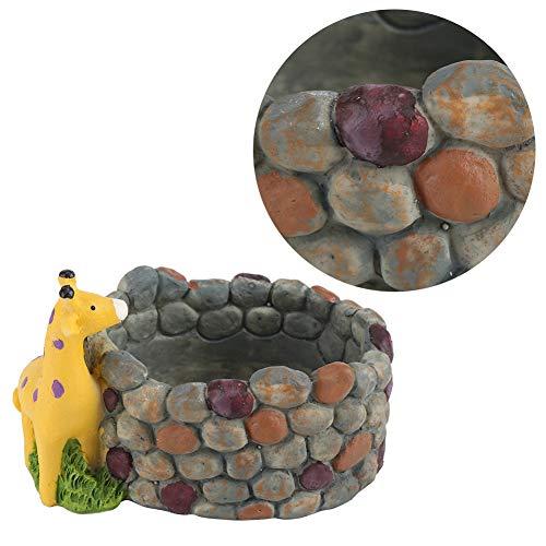 Socobeta - Contenitore per bonsai in resina, antiscivolo, ideale per la casa, il giardino (giraffa)