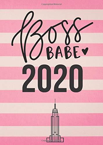 Boss Babe 2020: Planer Kalender für Frauen, Business Ladies, Geschenk für Goal Getter, Wochenplaner mit Jahresübersicht, alle Termine im Blick, rosa Cover