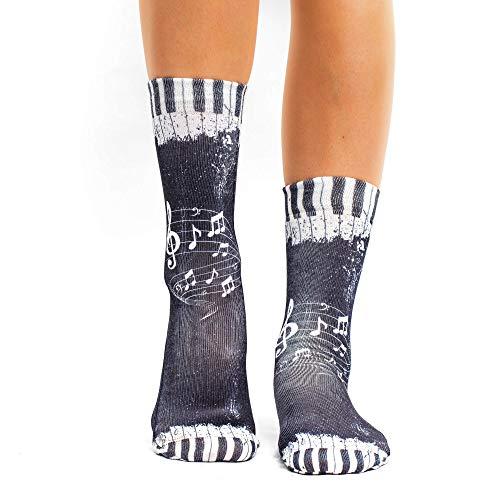 Wigglesteps Damen Socken Stave White, one Size, 36-40