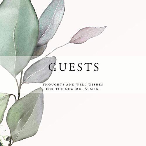 Wedding Guest Book: Watercolor Greenery Original Artwork | 200 Guests