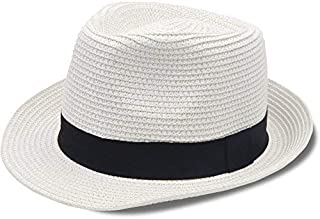 Stynice Panama Hat Foldable Fedora Hats for Women   Men Short Brim Straw  Hats Beach Sun 1ea107cb7e21