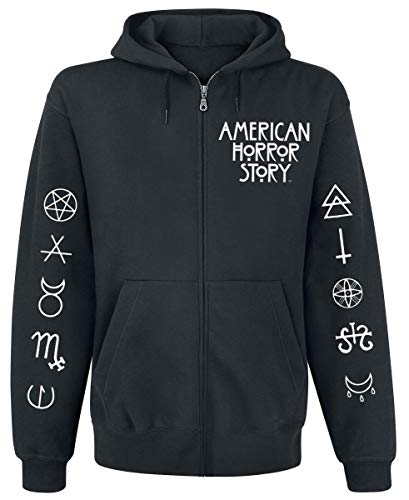 American Horror Story Normal People Hombre Capucha con Cremallera Negro S
