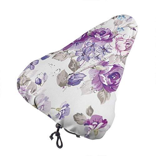 Coprisedile Viola Fiori Vintage per coprisella Copri Pioggia Sella Bici