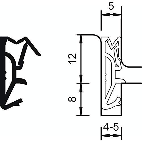 Gedotec Zargendichtung Haustür-Dichtung 12mm Silikon-Türdichtung schwarz - DS 112a | Silikon-Dichtung Nutbreite 4–5 mm | Flügelfalzdichtung MADE IN GERMANY | 6 Meter - Fenster-Dichtung zum Einbauen