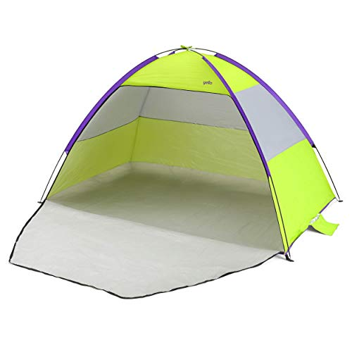 Yello Beach Tent SPF 50 Sun Shelter for Kids and Adults, Green, 2.1 m
