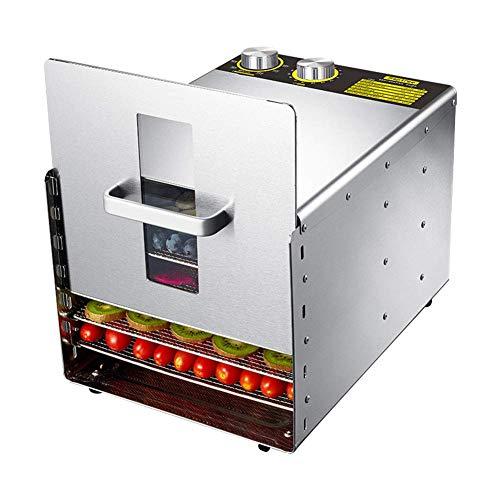 MissZZ Food Dehydrator Machine Edelstahl Obsttrockner Net 6-Schicht mit digitaler Temperaturregelung & Timer für Hausgemüse