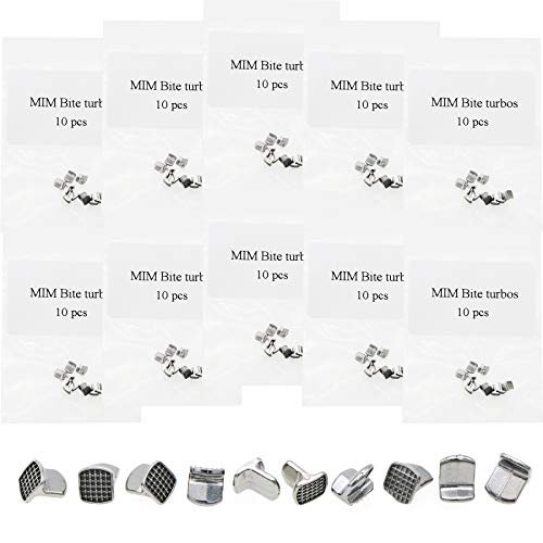 10Packs MIM Bite Turbos for Orthodontic 100Pcs