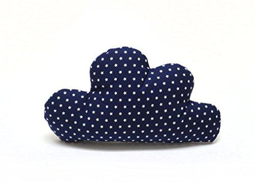Blausberg Baby - Schmusewolke Kissen in Wolken-Form mit Frottee-Seite Dekokissen - Blau Stern - alle Materialien OEKO-TEX® Standard 100 zertifiziert - handgefertigt in Hamburg