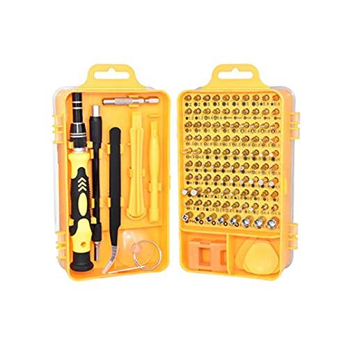 GIAO Juego de Destornilladores de Precisión, Kit de Herramientas Precision de Reparación de Bricolaje Profesional Destornillador Precision Estrella(Color:C)