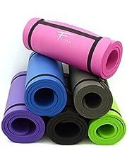 Fitem Alfombrillas Esfera Confort-Espuma de Alta Densidad NBR-183 x 61 x 1,5 cm para Gimnasia, Yoga, Deporte, Gimnasia, Fitness, Pilates y musculación-Correa de Transporte.