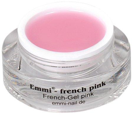 Emmi-Nail Studioline French-Gel pink: UV-Gel für eine natürliche Gelmodellage, mittelviskoses Aufbau-Gel, hohe Deckkraft in milchigem Rosé-Ton, 15 ml
