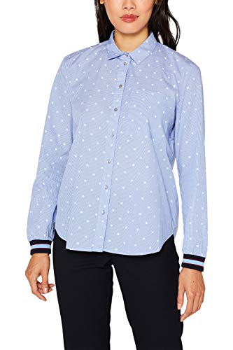 ESPRIT Damen 089Ee1F008S Bluse, Blau (Light Blue 440), (Herstellergröße: 40)