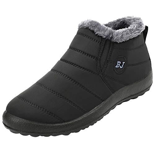 JOINFREE Womens Waterproof Winter Shoes Fur Lining Snow...