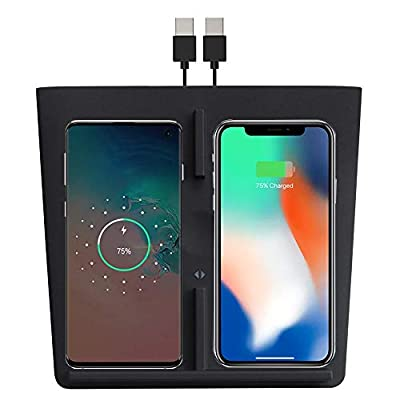 Motrobe Tesla Model 3 Wireless Charger Dual Charging Dock with Two USB Splitter V2.0
