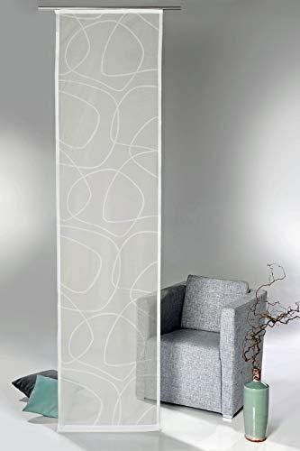 heimtexland ® Flächenvorhang Stones Abstrakt inkl. Zubehör 60x245cm Gardine Schiebegardine Natur Typ595