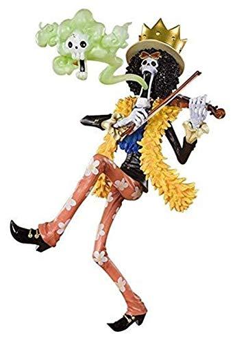 XIAOGING One Piece Brook musico Animado Figura 23cm-Nuevo Mundo Rey del Alma Figurita Decoracion Adornos coleccionables animaciones de Personajes de Juguete Modelo