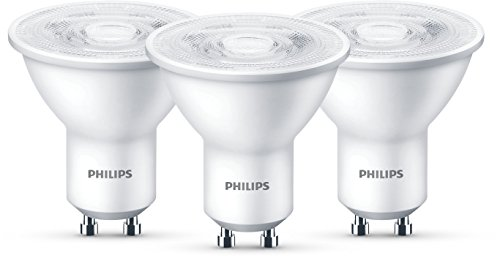 Philips 8718696761304 A+, LED 50W GU10 WW 230V 36D 3BC/8, Plastik, 4.7 watts, GU10, Silber, 5.0 x 5.0 x 5.4 cm