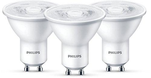 Philips LED Lampe ersetzt 50W, GU10, warmweiß (2700 Kelvin), 345 Lumen, Reflektor, Dreierpack