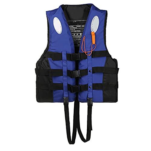LYCV Chalecos Salvavidas, con Chaleco Salvavidas de flotabilidad de Kayak Silbato, para Remo de Kayak, boya de Deportes acuáticos para niños Adultos.-LXX
