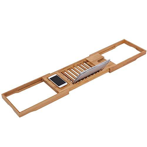 GXP 1 Pieza Extensible De Bambú para Bañera, Estante para Baño, Ducha, Bañera, Bandeja para Lectura De Libros, Soporte