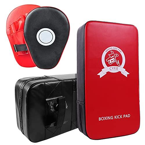 DEWEL Set de Boxeo Entrenamiento - Paos Boxeo Entrenamiento Almohadillas de Impacto de Boxeo Entrenar en casa, Manoplas de Poliuretano