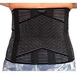 busto ortopedico unisex schiena lombare fascia correttore posturale 6 stecche cintura uomo e donna 4°