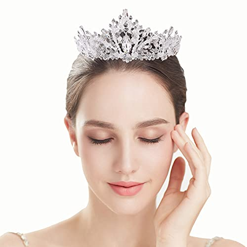 Corona barroca de la reina para las mujeres, princesa novia tiara rhinestone...