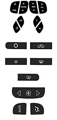 Steering and AC Decal Combo Repair Kit for Your 2000-2006 Chevy GMC Silverado Yukon Suburban Tahoe Sierra Vehicle - Tough Outdoor Vinyl Overlays to Bring Back Your Buttons Fast and Easy