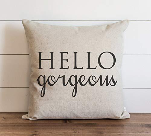 Funda de almohada Hello Gorgeous Caps para el día a día de la casa, regalo para ella, funda de almohada con cierre de cremallera oculta, para sofá, banco, cama, decoración del hogar, 60 x 60 cm