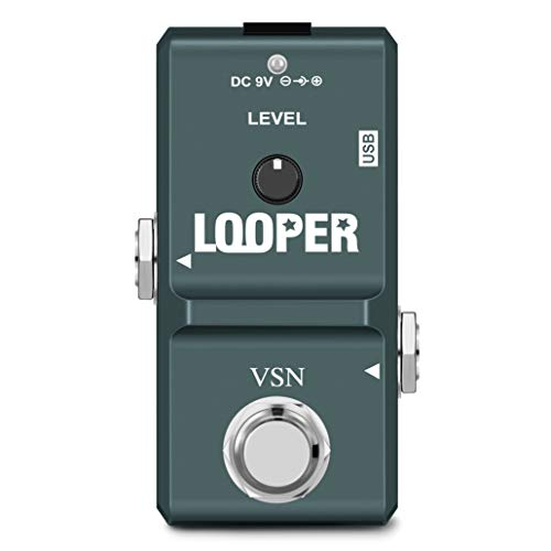 VSN 48K Looper Electric Guitar Effect Loop Pedal 10 Minutes of Looping Unlimited Overdubs USB Port True Bypass