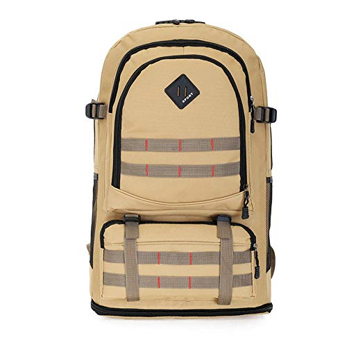 NEHARO Hiking Camping Backpack Large 60L Travel Rucksack Outdoor Waterproof Hiking Backpack Camping Bag Ultralight Sport Backpack Climbing Knapsack (Color : Khaki, Size : 60L)