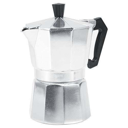 Alvinlite Tazas de cafetera Tipo Italiano de Aluminio Moka Olla Cafetera expreso Estufa Uso de Oficina en casa 100 ml