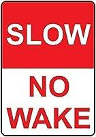 コレクターウォールアート、スローウェイクウェイクヘビーデューティーメタルストリートサイン、ウォールティンメタルサイン装飾メタルプラーク警告通知バーコーヒーハウスガレージ用の鉄絵
