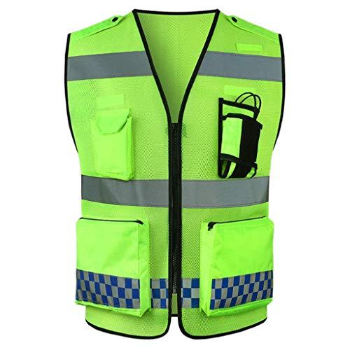 DBSCD Sicherheitsweste für Männer, Warnweste, Warnanzug für den Verkehrsaufbau für die Weste, Fluoreszierende Sicherheitsweste