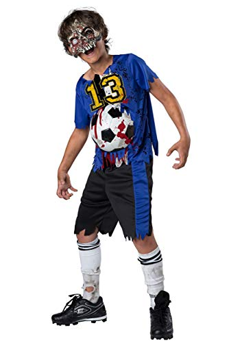 Fun World Soccer Player Zombie Halloween Costume for Boys, Small,...