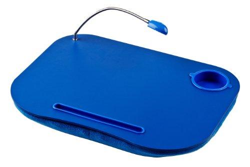 Premier Housewares - Bandeja con cojín y Flexo para Ordenador portátil, Color Azul