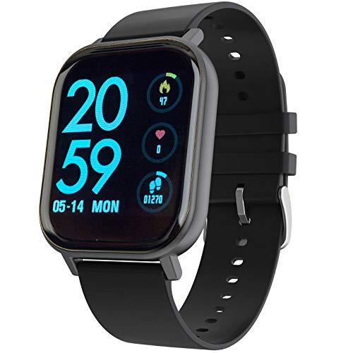 joyliveCY CyFiit Smartwatch, Fitness Armbanduhr Tracker mit Pulsmesser Blutdruck Blutsauerstoff Körpertemperatur Schlafenmodus, Schrittzähler Kalorien Timer SMS SNS Anruf für Damen Herren Geschenk