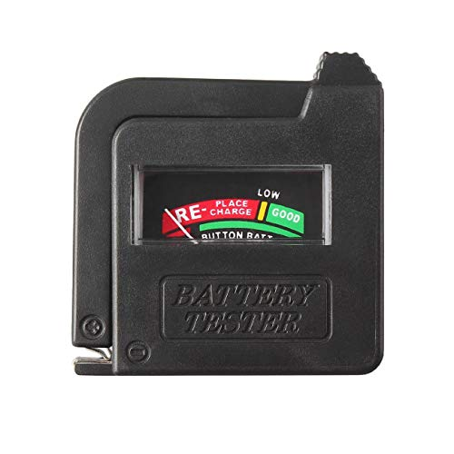 Uniqueheart Bt-168 Probador de batería Universal para 9V 1.5V y Pila de botón AAA AA CD Indicador de comprobador de Voltaje de Pila de botón Universal - Negro