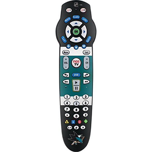Skinit Decal Skin for Fios 2-Device Remote Control (P265) - Officially Licensed NHL San Jose Sharks Jersey Design
