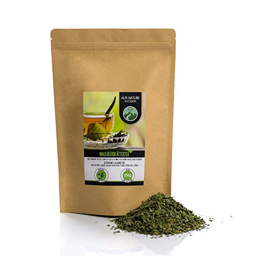 Mullbärbladte (250g), skuren, torkat försiktigt, 100% rent och naturligt för beredning av te
