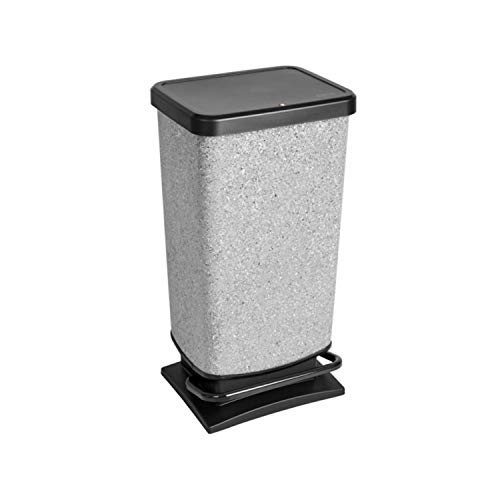 Rotho Paso Treteimer, 40 l, Granit
