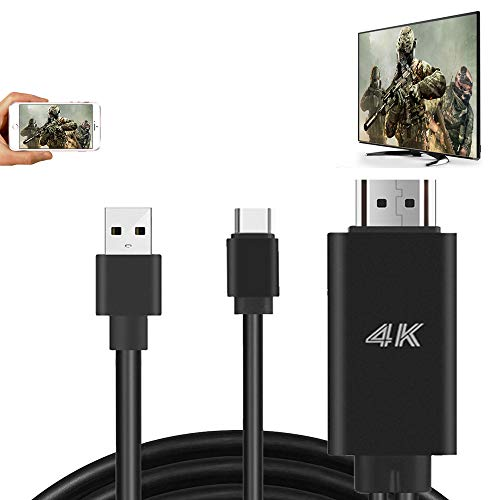 MHL HDMI Adapter HDTV Cable for Samsung Galaxy S20 S10 S9 Plus S8 Note 8 LG G5 Q8 V60 V30 Android Device MacBook USB Type C Cell Phone Mirroring to TV Monitor Projector HD Digital AV Video Converter